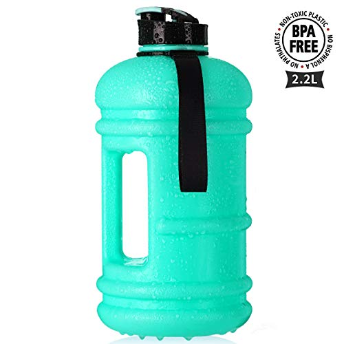 TOOFEEL 2.2L Big Water Bottle Water Jug Container 73OZ Large Water Canteen BPA Free Leakproof for Gym Fitness Athletic Outdoor Camping Hiking