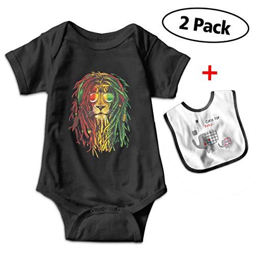 Benunit Rasta Reggae Lion Girls' Cotton Short-Sleeve Outfits Shower Gifts 6-12 Month One-Piece