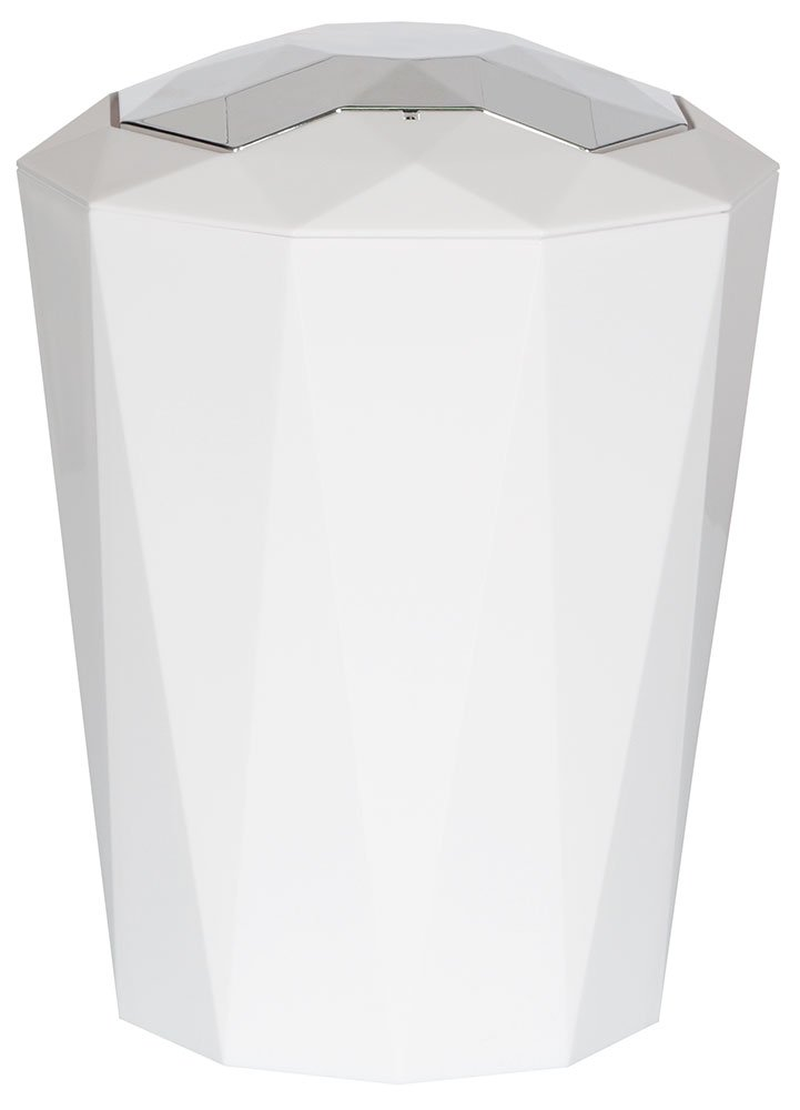 Spirella 10.18129 Crystal-Papelera con Pedal Blanco (5 L), Color Blanco Pedal f6dbf4