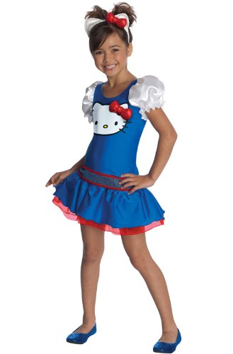 [Hello Kitty Dress (Blue) Child Costume Size Medium (8-10)] (Hello Kitty Child Costumes)