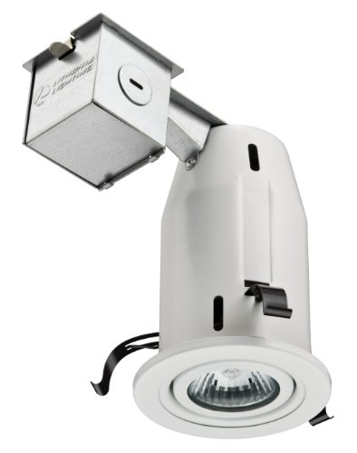 Lithonia Lighting LK3GMW M6 3 Inch Gimbal Kit with Halogen Lamp Included in White