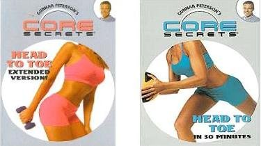 Gunnar Peterson's CORE SECRETS 2 DVD Set: HEAD TO TOE Extended Version! + HEAD TO TOE in 30 MINUTES. Be Stronger! Move Easier! Feel Better!