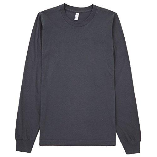 American Apparel Unisex Plain Long Sleeve Cotton T-Shirt (M) (Asphalt)