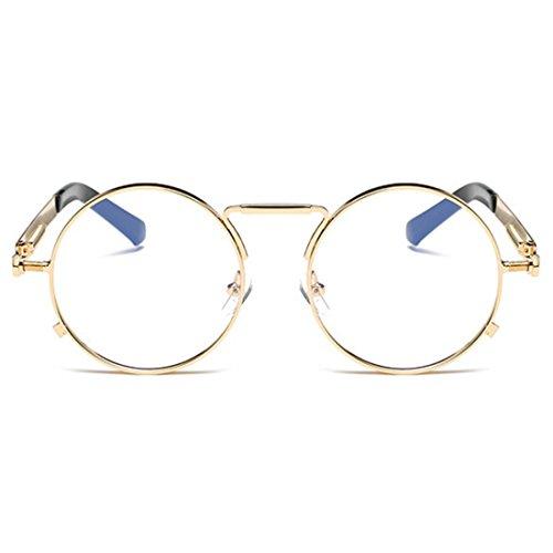Mercurio mujeres y Aiweijia para Gafas Blanco Gafas hombres Vintage de Retro sol Gafas Negro Gafas Y redondas POpwAPq