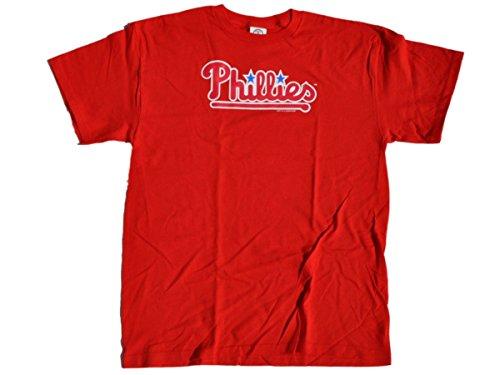 Soft As A Grape Philadelphia Phillies SAAG Women Red Star Logo Loose Fit T-Shirt -