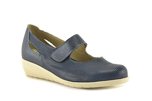 ConBuenPie by Tupie - modelo 71 - Calzado de Piel estilo Casual para Mujer Color Azul y Beige Azul