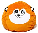 Roomganize Large Stuffed Animal Bean Bag Chair Toy Storage (Fox)