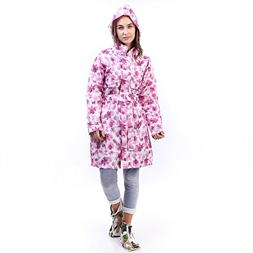 日曜日つば自分大人 シャム レインコート 女性の ウインドブレーカー ロングセクション パープル キャップ付き ロングスリーブ ハイキング 観光 レインコート クライミング ポンチョ 軽量 レインウェア 防水 携帯袋付き
