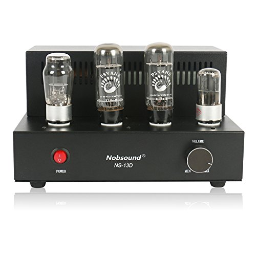 Nobsound Tube Amplifier NS-13D with 2 Vacuum Tube of EL34 , Hi-Fi, 100% Handmade ()