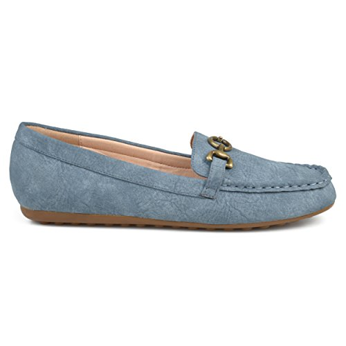 Comfort Loafers Chain Sole Faux Elisha Womens Co Blue Brinley Leather Accent Driving Hx1q0XvBw