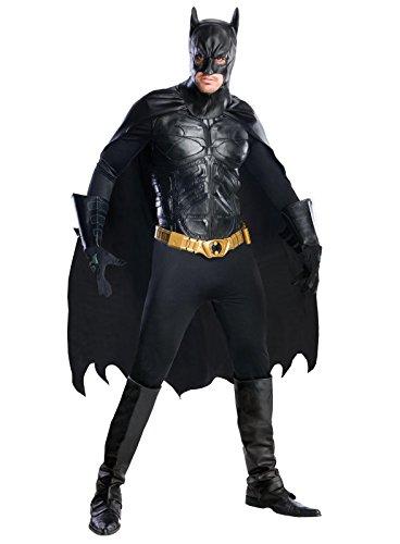 Batman The Dark Knight Rises Grand Heritage Deluxe Batman, Black, Large (Batman Costume Men)