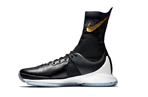Nike Mens Kd 8 Elite Scarpe Da Basket Nero / Metallico Oro / Vela