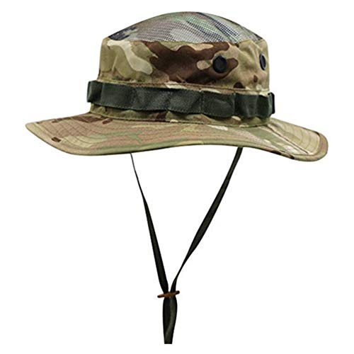 4afb3610e4e9e Connectyle Kids Mesh Safari Sun Hat Summer Sun Protection Cap Camouflage  Floppy Play Hat with Chin Strap