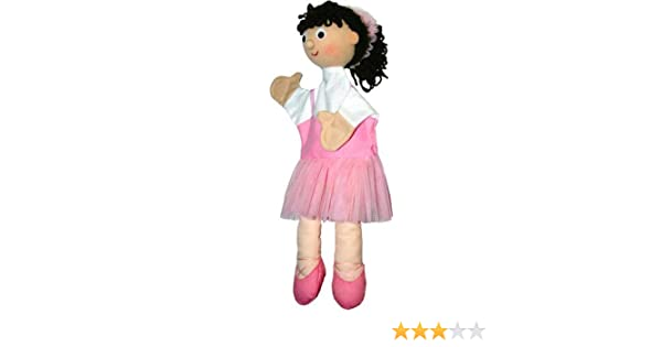 Marioneta de peluche Bailarina Rosa 40cm de trullala