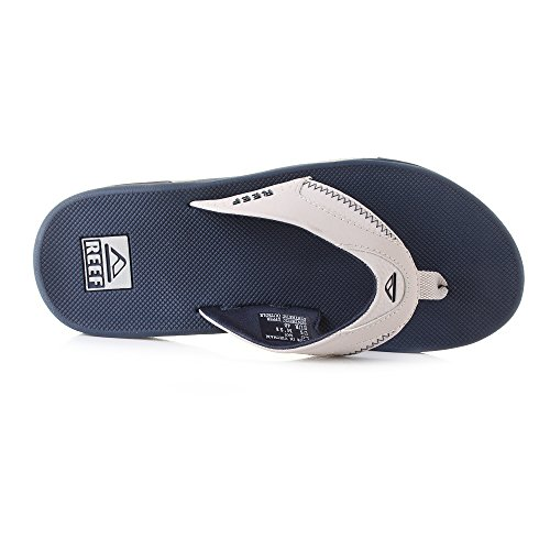 Large Product Image of Reef Men's Fanning Sandal, Navy/Grey, 15 M US