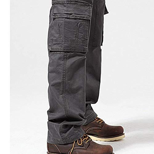 Hommes Cargo Vintage Séchage Décontracté En Simple Randonnée Sche Air Vêtements Multiples Plein À Poches Lanceyy Travail Style De Grau Coton Pantalon L'eau Pour 7YxXngO