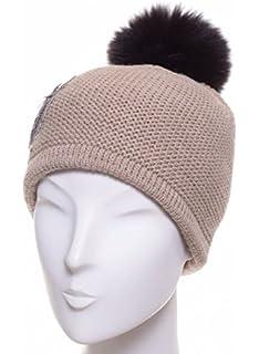 203a71c914d6a McBURN Bonnet a Revers Cable Knit Femme   Made in Italy pour l'hiver ...