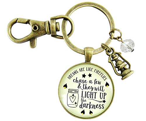 Firefly Keychain Dreams Are Like Fireflies Southern Inspired Country Girl Pendant Lantern Rustic Womens - Bug Lightening