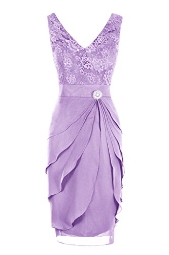 Dresstore Women's V Neck Short Lace Bridesmaid Dress Mother of the Bride Dress