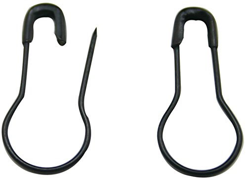 Eforstore Wholesale Black Metal Safety Pins 0.8'' Gourd Bulb Calabash Pin Clothing Trimming Fastener Tool Clip Buttons DIY Home Accessories (500pcs) by Eforstore