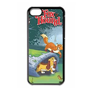 iPhone 5c Cell Phone Case Covers Black Fox and the Hound Phone cover O7531774