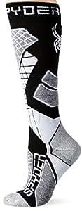 Spyder Women's Zenith Socks, Black/Image Gray/White, Small