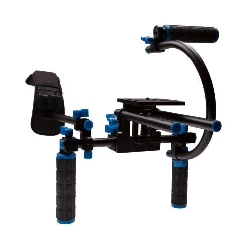 StudioPRO DSLR Camcorder Movie Shoulder Mount Stabilizer Rig 2 Support System with Two Handles C Shaped Bracket