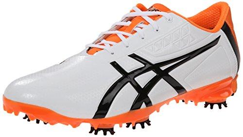 ASICS Men's Gel Ace Pro Light Golf Shoe, White/Black/Flash Orange, 11.5 M US GEL-ACE® PRO LIGHT-M