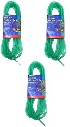 Penn Plax Deluxe Silicone Flexible Airline Tubing for Aquariums, 3/16-Inch x 20 Feet Per Pack (3 Pack / 60 Feet Total)