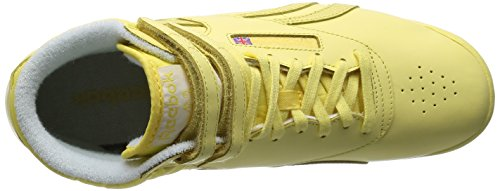 Yellow Women's Yellow Filament Dance Freestyle Reebok Hi Shoes White OXdqFxWwP