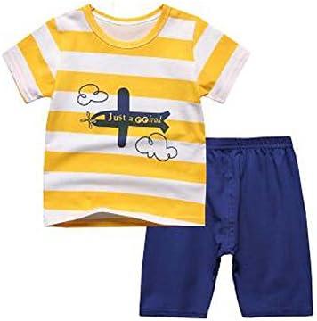 ボーイズパジャマ飛行機コットン子供服ショートセット幼児