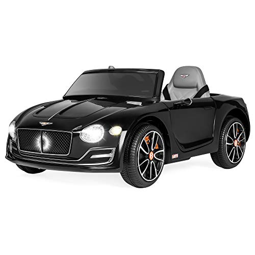 Best Choice Products 12V Kids Bentley EXP 12 Ride On Car w/ Remote Control, Foot Pedal, 2 Speeds, Headlights, AUX- Black