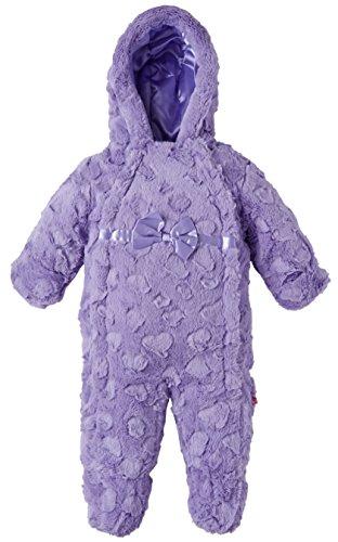 Wippette Baby Girls Infants Plush Faux Fur Dual Front Winter Snowsuit Bunting - Purple (6/9 Months)