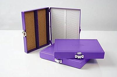 100pc Microscope Slide Storage Box, Purple