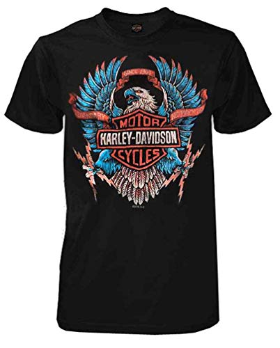 Harley-Davidson Men's B&S Eagle Short Sleeve Crew Neck Cotton T-Shirt (XL) Black ()