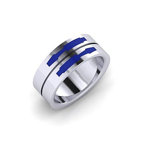 Dot Enamel Band - Droid Double Band, Enamel Ring