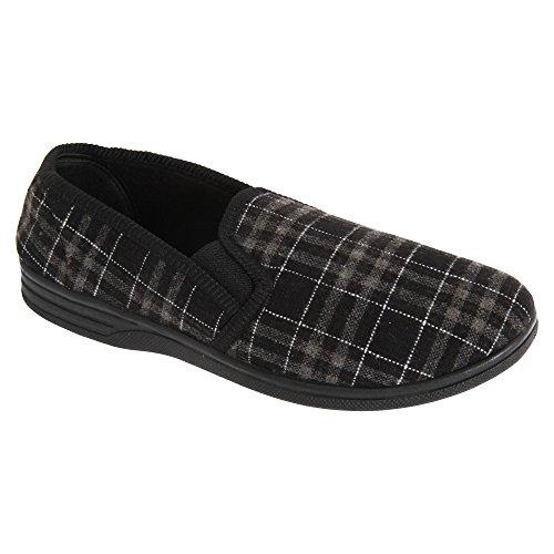 SlumberzzZ Mens Sturdy Slipper Shoe Gray XltFJOPsS