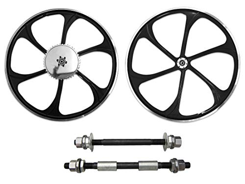 BBR Tuning 26 Inch Heavy Duty Motorized Bike Mag Wheel Set (Black)