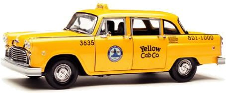 Taxi Cab Diecast Model - 1981 Los Angeles Taxi Cab Checker 1/18 Diecast Model Car by Sunstar