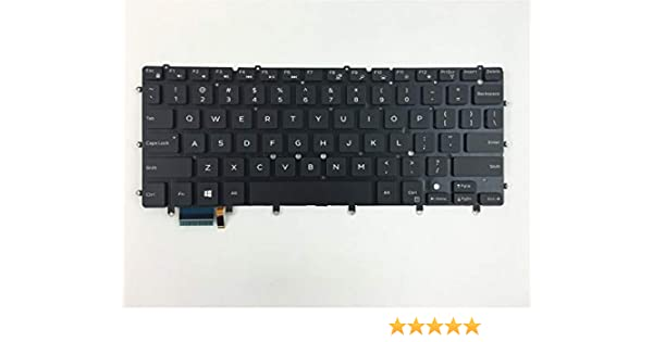 Replacement Backlit Keyboard Without Frame for Dell XPS 13 9343 9350 9360 13-9343 13-9350 Inspiron 15 7000 15-7547 15-7548 US Layout Black Color