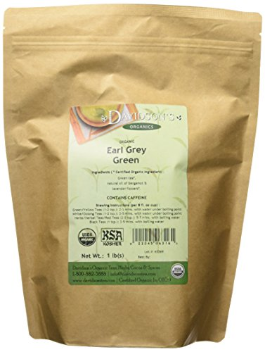 Davidson's Tea Bulk, Earl Of Grey Green, 16-Ounce Bag