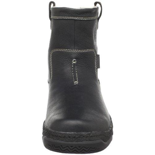 Clarks Mens Palissad Faux Shearling Boot Svart Läder