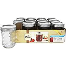 Kerr Quilted Crystal Jelly Jar 8oz Set of 12