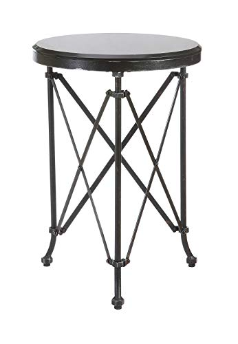 - Creative Co-op Black Metal Table with Marble Top, 25
