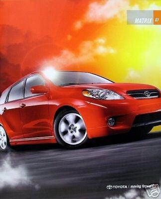 2007 Toyota Corolla Matrix wagon new vehicle brochure
