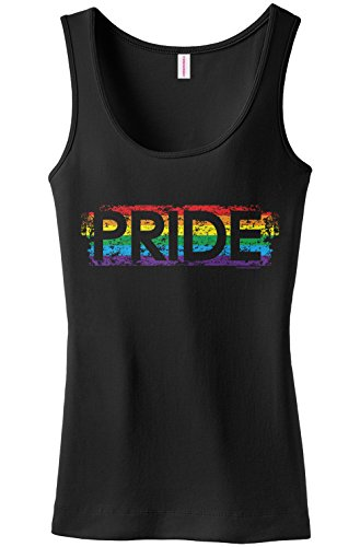 Threadrock Women's Pride Tank Top M Black