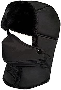 Lethmik Winter Trapper Ushanka Faux Aviator Hunting Hat w/Mask