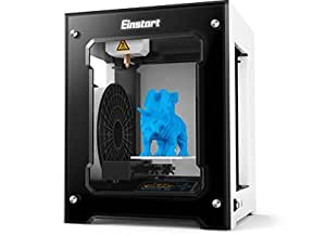 2017 Newest High Performance Shining 3D Einstart-S Desktop 3D Printer (Alloy Framework, High Accuracy, Stability and Speed, Large Build Size)