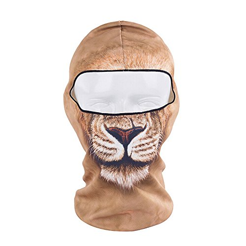 [Ezyoutdoor Full Face Motorcycle Bicycle Bike Skull Mask Snowmobile Hood Neck Balaclava Hat Animal Outdoor Sport Cosply Costume] (Easy Bane Costumes)