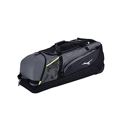 - Mizuno 360271.9290.01.0000 Samurai Catcher's Wheel Bag One-Size Charcoal-Black